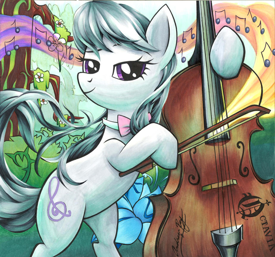 Octavia in Everfree by Muffyn-Man