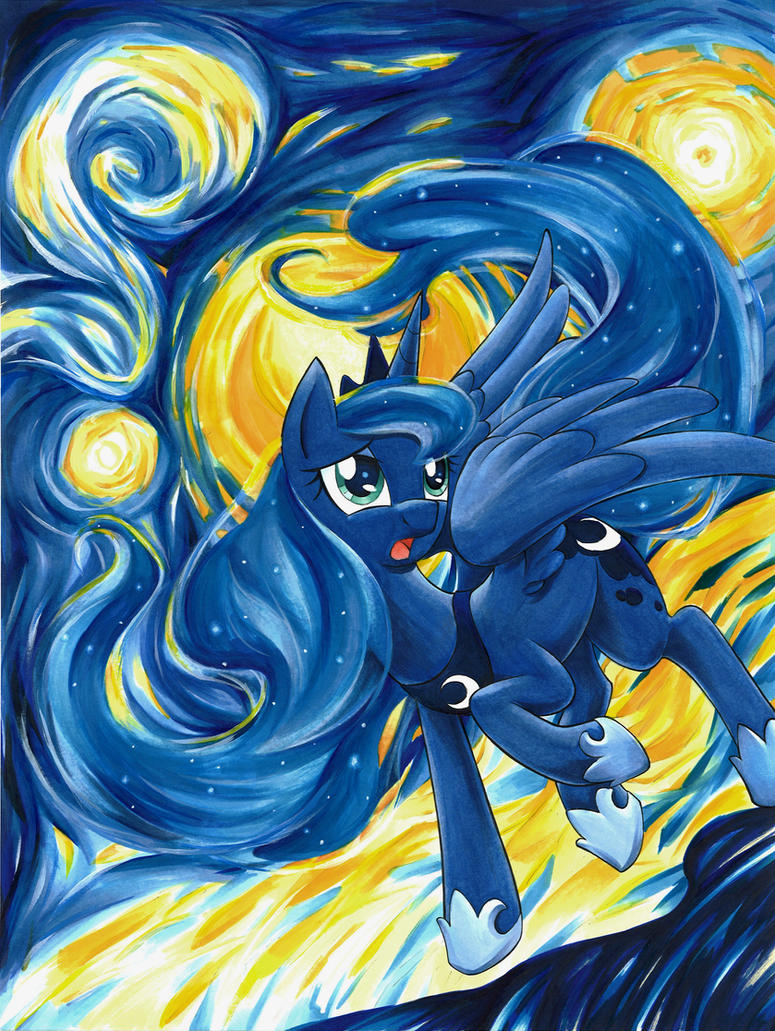 Luna S Starry Night By Muffyn Man On Deviantart
