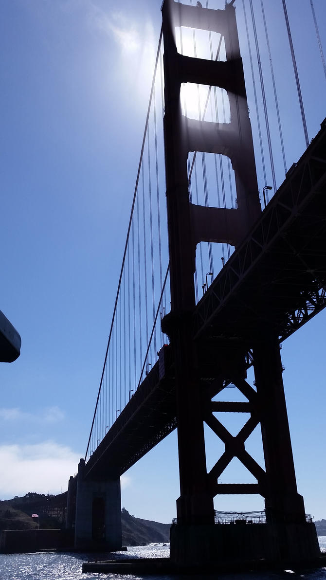 Golden Gate Silhouette by Muffyn-Man