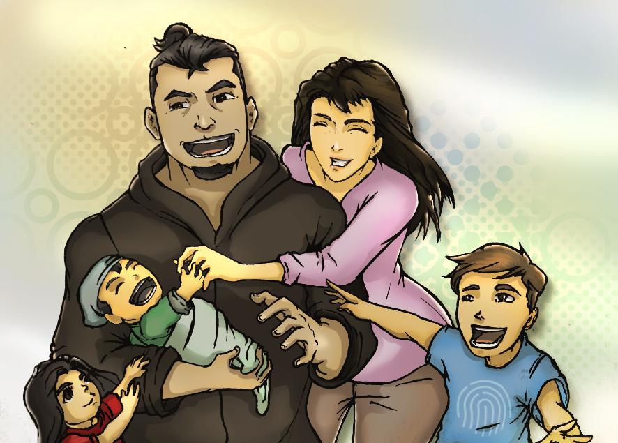 My Cartoon Family Portrait by flintmarqus9