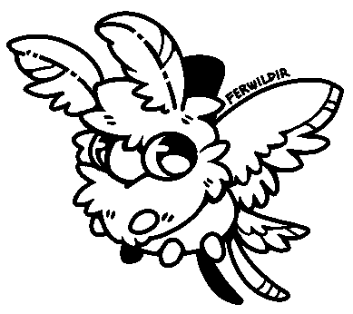 F2U Moth Friend Lineart by Ferwild-Adoptables