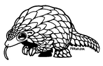 F2U Pangolin Pal Lineart