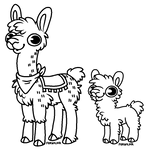 F2U Llama Lineart