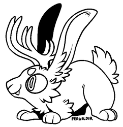 F2U Jumpy Jackalope Lineart by Ferwild-Adoptables