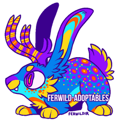 (OPEN) 700 Point Jackalope Adopt by Ferwild-Adoptables