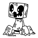 F2U Creeper Lineart by Ferwild-Adoptables