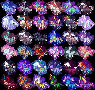 (OPEN 23/36) Tiny Pony Batch #2 by Ferwild-Adoptables