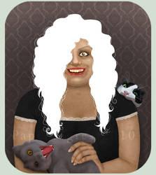 Crazy Cat Lady by papertigress