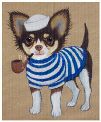 Sailor Chihuahua by papertigress