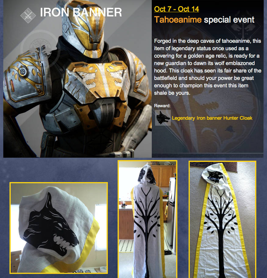 Destiny Iron Banner Cloak sale for charity (SOLD) by NEMESIS-01