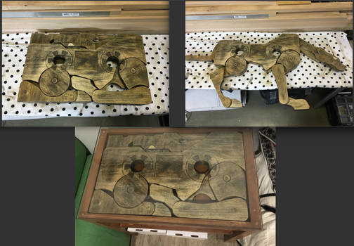 ravage transformer wood table insert