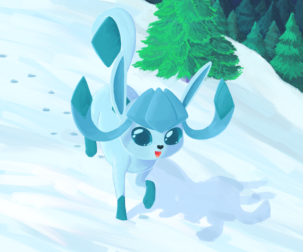 Glaceon Paint by a6p
