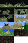 Minecraft Builds. Biome, Castle, Deep Pillars.