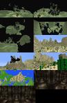 Minecraft Builds. Biome, Castle, Deep Pillars.