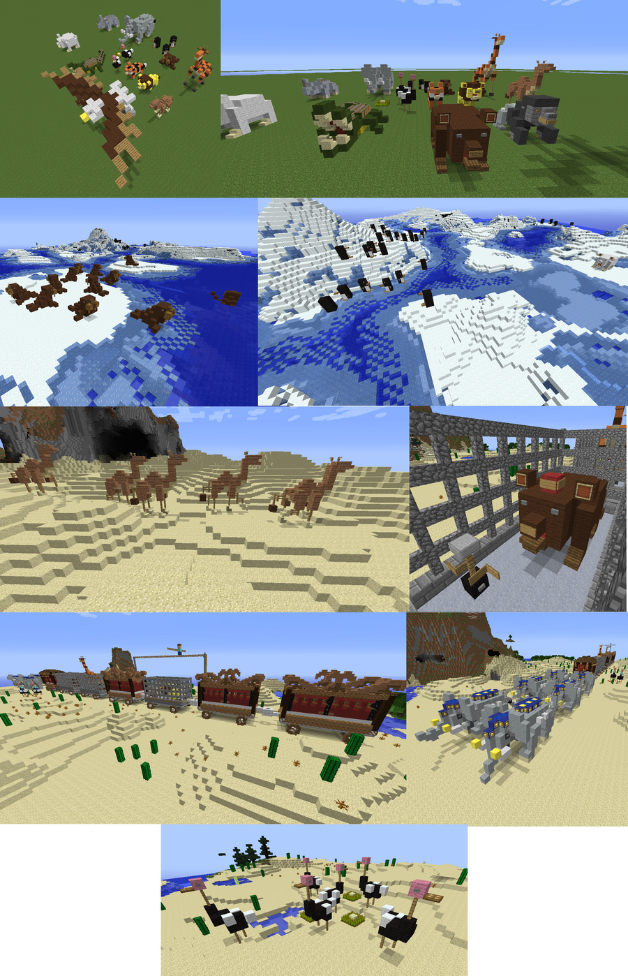 Minecraft Map Decorations: Animals by lunchbox1234