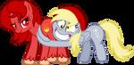Spicy Demon and Derpy butt hug by NupieTheHero