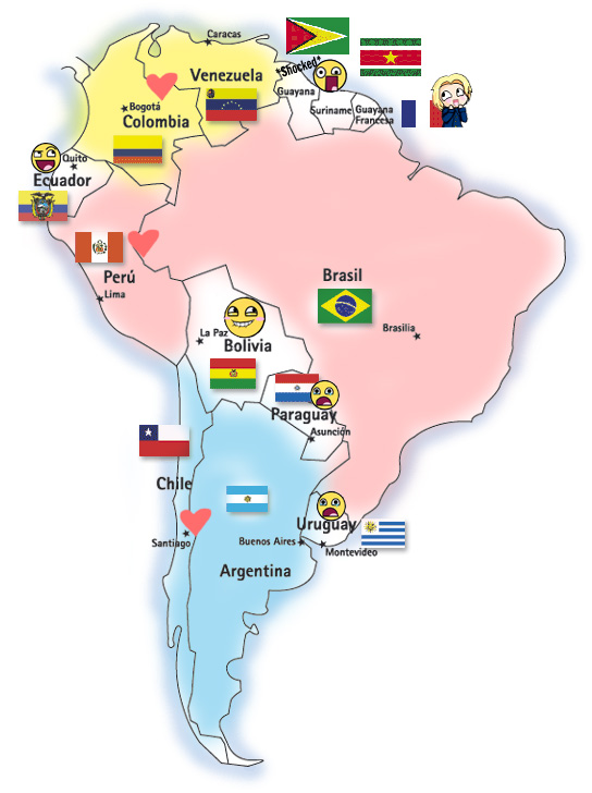 Mapa Sudamericano by cioccolato-X-key