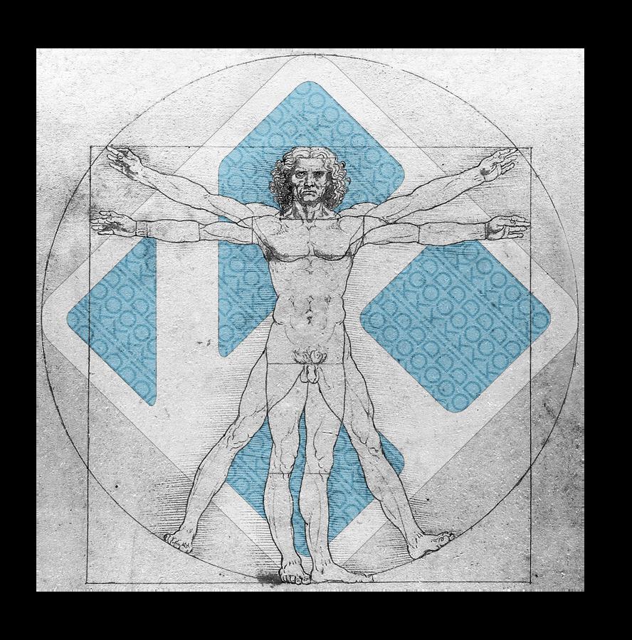 Kodi Vitruvian Man Da Vinci Colour by christara