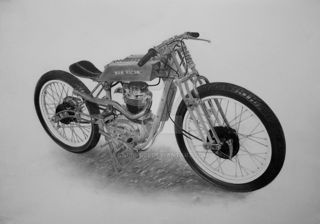 Custom Bike drawn for 'Rolling Art Motorcycles' by SARGY001