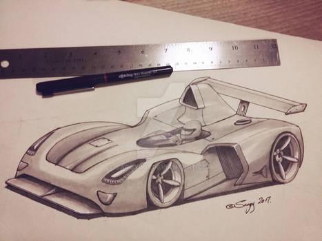 Concept racing car sketch