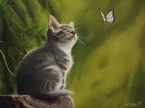Kitten Oil Painting