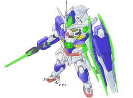 Gundam 00Q by bagayyt