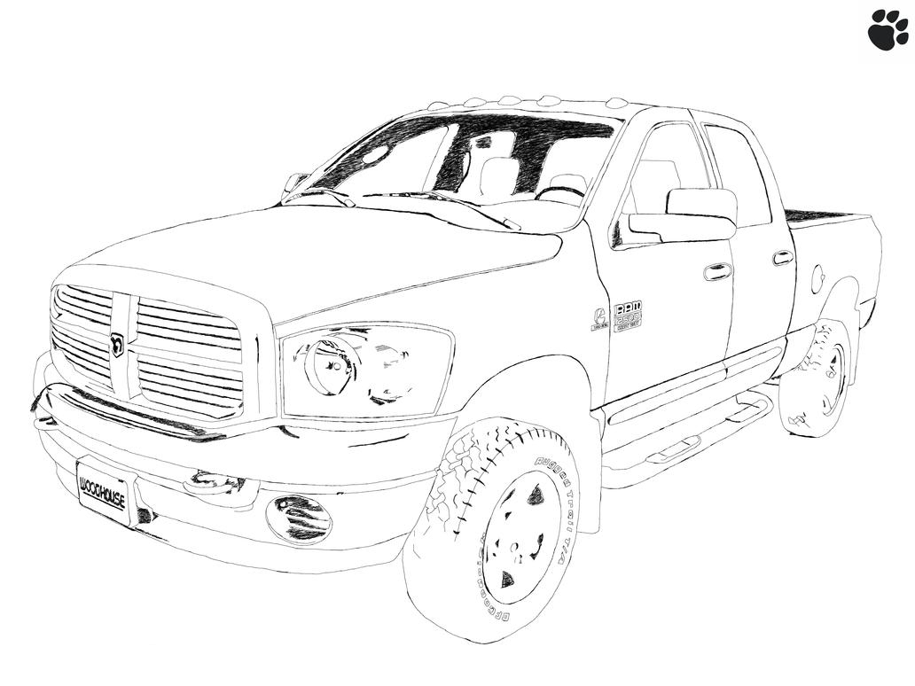 dodge ram 2500  heavy duty  sketch by tehpaws3d on deviantart