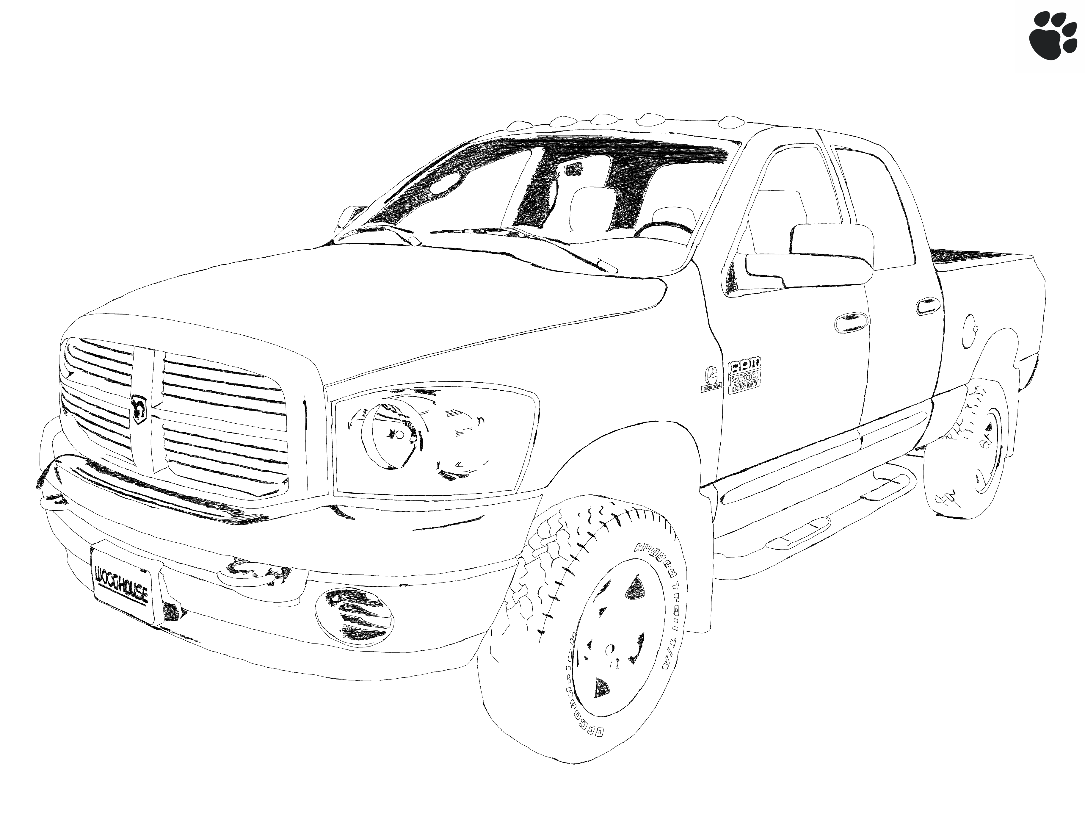 dodge ram 2500  heavy duty  sketch by tehpaws3d on deviantart