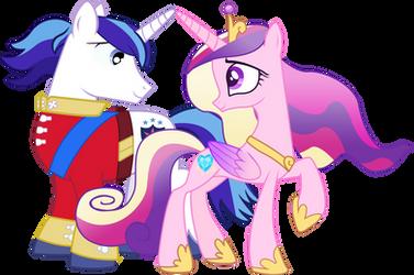 Shining Armor and Princess Cadence by Serginh