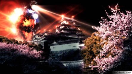 Godzilla 1995 in Himeji by ZION227