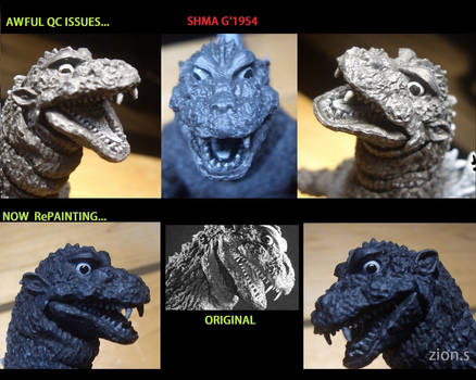 SH Monsterarts Godzilla 1954 : QC issues #2