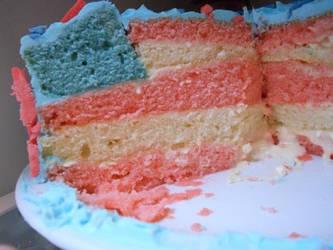 4th of July Flag Cake by SmilyXAlli