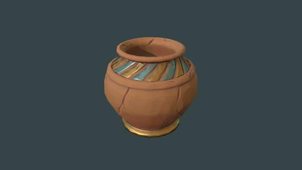 Stylized Clay Pot