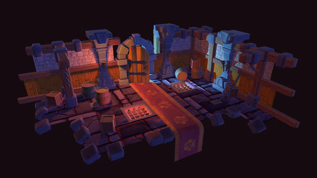 Stylized Dungeon Diorama