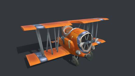 Stylized biplane
