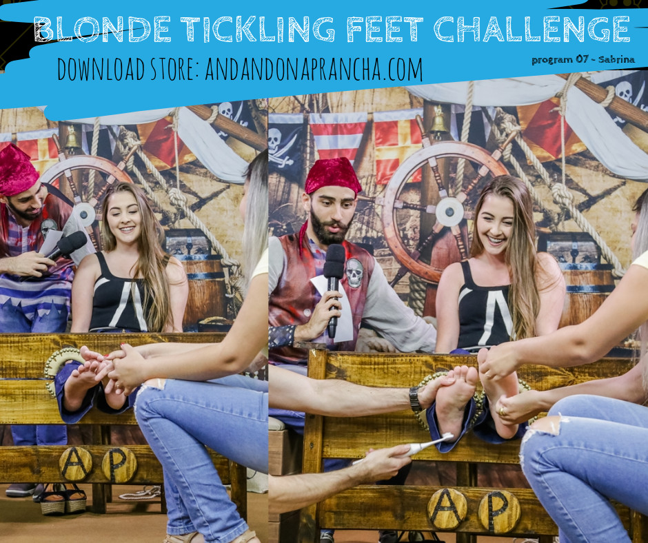 Blonde tickling feet challenge - merciles torture by raposa2