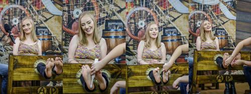 Tickling feet Nicoly program 'Andando na Prancha' by raposa2