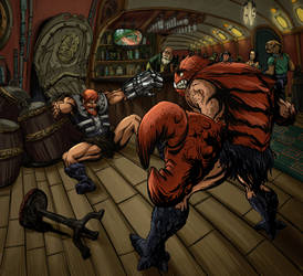 Cantina fight by gustarzinger