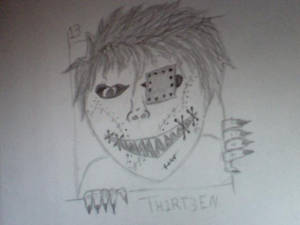 the first drawing in my new series TH1RT3EN