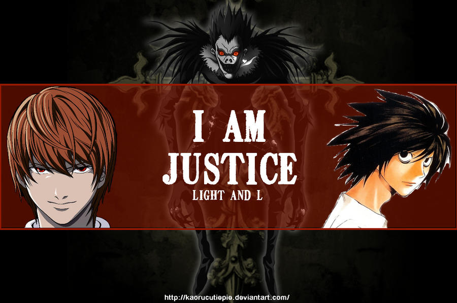 Death Note Wallpaper: Ryuk, Light and Ryuzaki (L) by ...