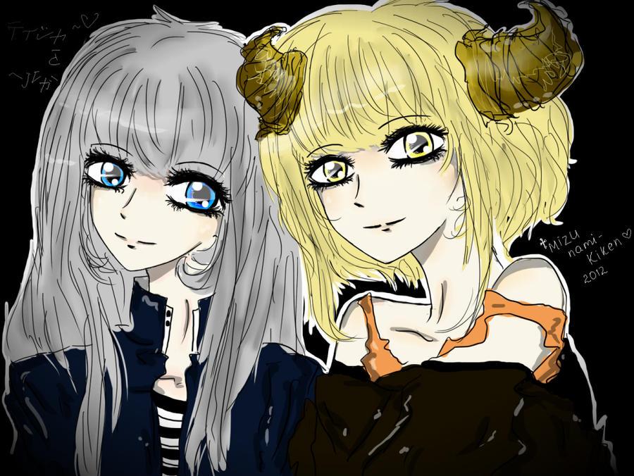 Tisha and Helga by nami-kiken