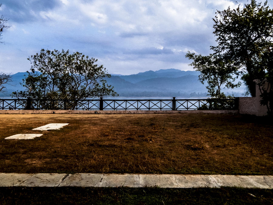 The backyard and blue hills. by DebasishPhotos