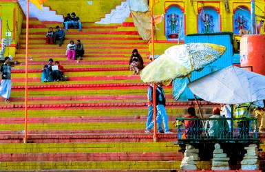 Lovers' Corner at the bank of Ganga,Varanashi by DebasishPhotos