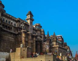 Varanashi along the river by DebasishPhotos