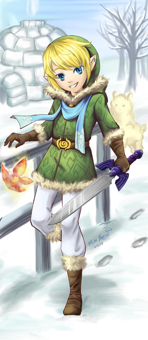 Red Link Blue Link Snow Link By MiraiParasol On DeviantArt