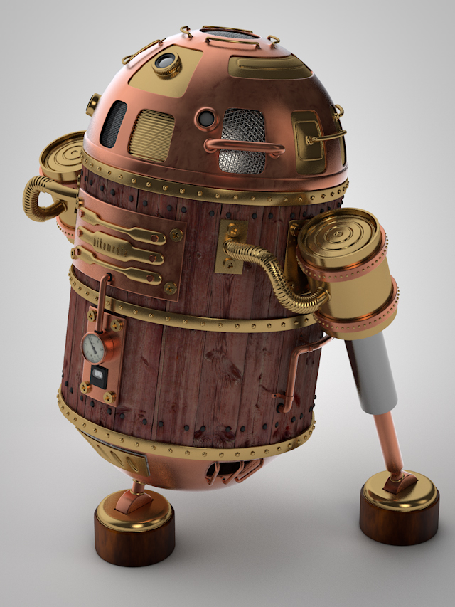 R2D2 Steampunk (WIP) by NIKOMEDIA