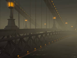 Foggy Bridge by NIKOMEDIA