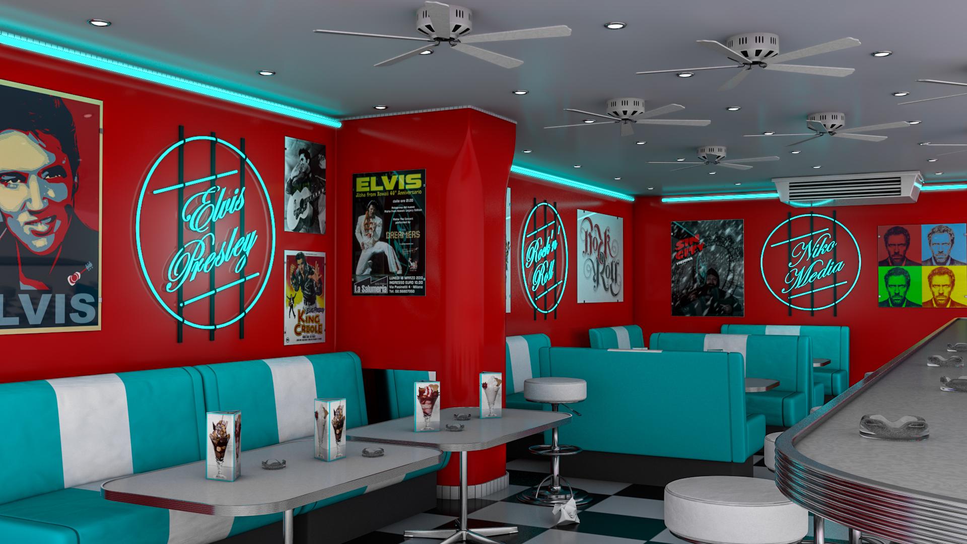 American diner by nikomedia on deviantart for Diner artwork