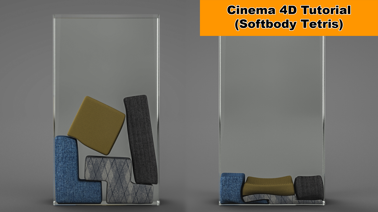 Softbody Tetris (Cinema 4D Tutorial) by NIKOMEDIA