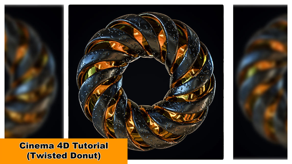Twisted Donut (Cinema 4D Tutorial) by NIKOMEDIA